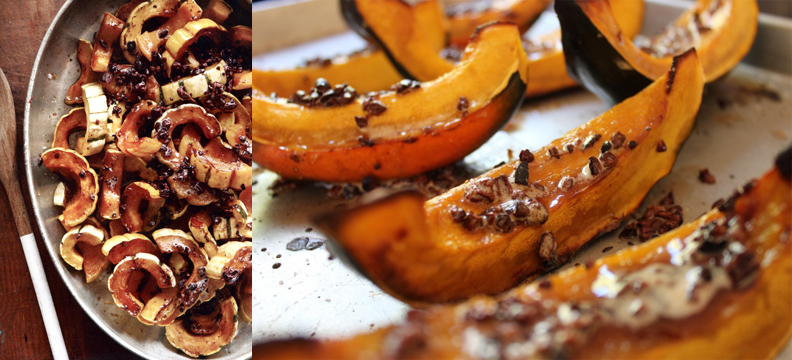 Roasted Squash With Brown Butter Nibs Recipe